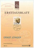 11190 - Mi.Nr. 1984 - ETB - Ersttagsblatt - 22.4.1998 - Ernst Jünger