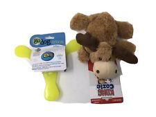 New listing Lot Dog Toys Go Dog Retrieval TriFlyer Kong Cozie Plush Squeaky Moose
