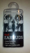 Skeleton Skull EARBUDS Stereo Sound Noise Reducing New in Package Cool Gift