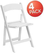Flash Furniture 4 Pk. Hercules Series 1000 Lb. Capacity White Resin Folding Chai