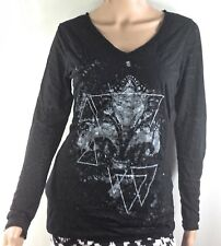 Rock & Republic Women Pullover Long Sleeves Size M Rock and Roll theme