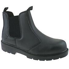 uomo Dickies COMMERCIANTE Stivali da lavoro di sicurezza in pelle nero 7 fa23345