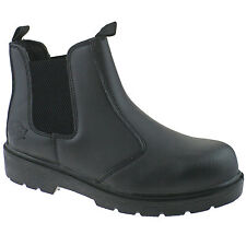 HOMME DICKIES Distributeur bottes cuir travail noir 7 FA23345