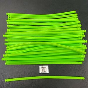 "50 Knex Fluorescent Green 7-1/2"" Flexible Rods - 7.5"" Standard K'nex Parts Lot"