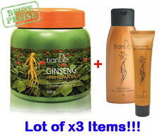 TianDe Ginseng extract Shampoo,Mask,Balm for damaged hair-Lot of 3 items-Genuine