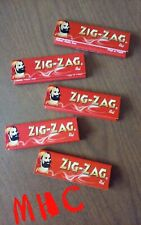5 Books! ZIG ZAG Red 1.0 Cigarette Rolling Papers! (50 leaves per book)   (MHC)