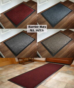 Non-slip Barrier Mat Rubber Office PVC Backing Heavy Duty Entrance ALL SIZES Rug