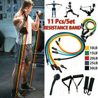 11Pcs/Set Resistance Bands Workout Exercise Yoga Crossfit Fitness Training Tubes