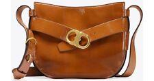Tory Burch Gemini Link Patent Leather Cross-Body Bag $498 Umber