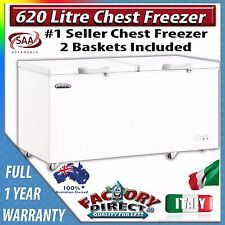 620 Litre Commercial CHEST FREEZER Food Storage With Lock Security RRP $1499.00