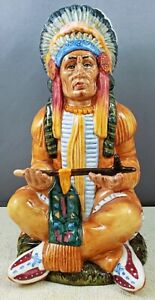 Vintage Royal Doulton THE CHIEF FIGURINE HN2892 Rare Gold Signed Edition NR