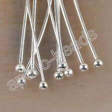 100pcs silver tone ball head pins h3979