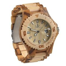 Wooden Watch For Men Women Maui Kool Lahaina Collection Maple And Zebrawood W...