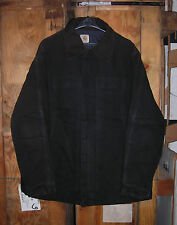 GENUINE 80s-90s CARHARTT COTTON DUCK JACKET PADDED BLACK EX COND !!! X-LARGE