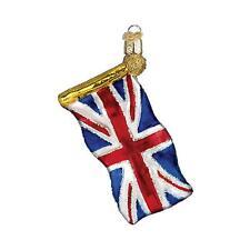 New Old World Christmas Union Jack British Flag Glass Christmas Ornament 36137