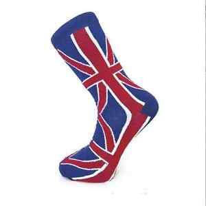 Union Jack British Flag Design Mens Everyday Ankle Socks Size 6 to 11