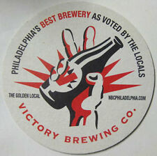VICTORY BREWING CO. HOP DEVIL ALE Beer COASTER Mat, PENNSYLVANIA, Best of Philly