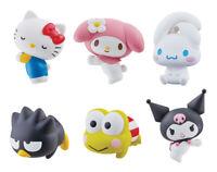 Bandai Sanrio Characters Figure Cable Accessories Hugcot 2 Kuromi set 6 pcs