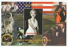 MARILYN MONROE STORIA DEL CINEMA JFK APOLLO 11 NIGER 1999 Gomma integra, non linguellato FRANCOBOLLO SHEETLET