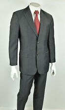 HUGO BOSS Black Label Gray Super 100's Bertolucci/Movie Regular Fit Suit 40R