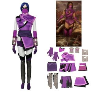 Mortal Kombat Mileena Cosplay Costume Full Set Uniform