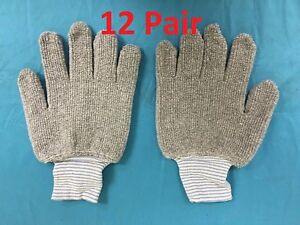 12 Pairs BRAND NEW SPERIAN Safety Seamless Knits Heavy Duty Cotton Gray Gloves