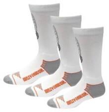 Harley-Davidson Men's Wings Coolmax Riding Socks - White, 3 Pairs D99219370-100