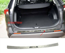 Fit For 16-2018 Toyota RAV4 Steel OUTER Rear Bumper Protector Cover Trim Silver