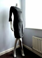 BODEN Little Black Jersey Dress UK Size 8 L Audrey Hepburn // Jackie Kennedy NEW