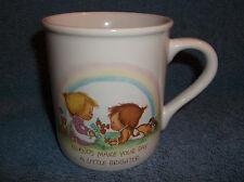 Vintage Hallmark Mug Mates Friends Coffee Cup Mug 1983 Betsy Clark - Made Japan