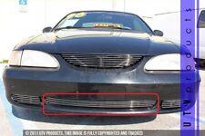 GTG 1994 - 1998 Ford Mustang V6 and GT 1PC Polished Bumper Billet Grille Insert