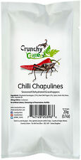 INSETTI commestibili commestibili Bug Bush Tucker Chilli chapulines 20g Crunchy Critters