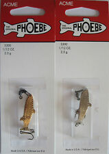 2  Acme Tackle PHOEBE Fishing Lures - 1/12 oz.- Gold & Silver