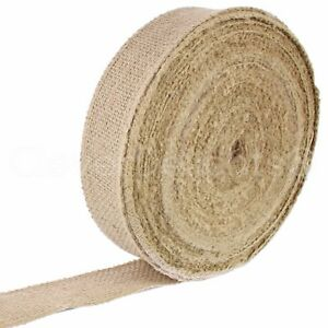 "2"" Burlap Ribbon - Natural Color - 50 Yards - Finished Edge - Jute Craft Fabric"