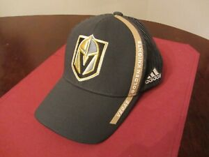 NHL Vegas Golden Knights Hat Adidas One Size Fits Adjustable Snapback Mesh NEW