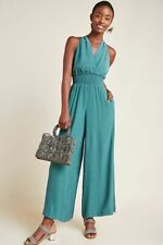 Anthropologie Bionda Plisse Jumpsuit. Turquoise. Small. RRP £130