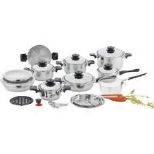"Chef's Secret® 28pc 12-Element T304 Stainless Steel ""Waterless"" Cookware"