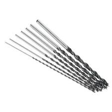 7PC Extra Long Wood Drill Bit Set Sizes 4, 5, 6, 7, 8, 10 & 12mm X 300mm