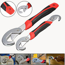 2pcs Snap'N Grip Adjustable Wrench Set 9-32mm Multi-function Universal Spanner
