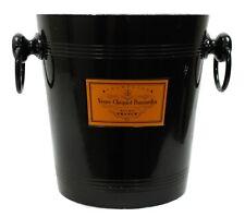Vintage Veuve Clicquot Ponsardin Reims France Black Metal Campagne Ice Bucket
