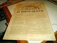 Revista Satírico lo Espíritu Kobold Sonzogno N.945 Del 10/7/1879 Illustrata