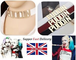 UK Cosplay Batman Suicide Squad Harley Quinn Puddin LeatherCollar Necklace JJ 77