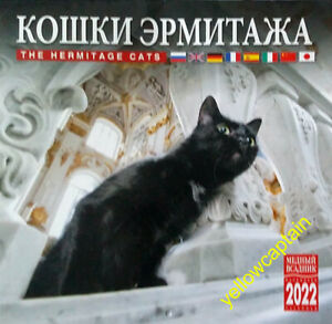 2022 Hermitage Museum cats in St Petersburg Russia - Russian wall calendar RARE