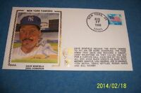 1988 New York Yankees DAVE WINFIELD 200th HOMERUN Silk FIRST DAY Cover FREE/SHIP