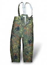 Genuine German Army GoreTex Bib And Brace Trousers Combat Flecktarn Waterproof