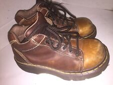 Dr. Martens Light Brown Leather Boots Size 4 Made in England Doc Martin