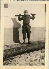 PHOTO ANCIENNE - VINTAGE SNAPSHOT - MILITAIRE SOLDAT FUSIL OMBRE EPINAL-MILITARY