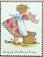 Mary Engelbreit Handmade Magnet-Hang Your Troubles Out To Dry