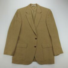 Roberts Bros 42R 100% Camel Hair Sport Coat Leather Buttons