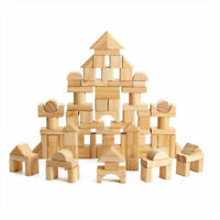 Children Wooden Stacking Wood Building Blocks Early Learning Educational Toy BM